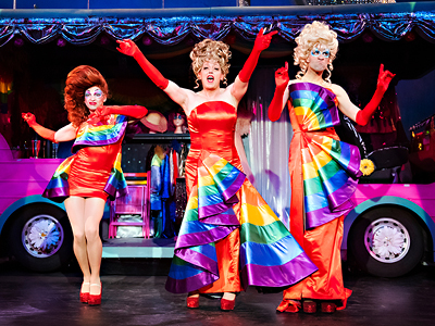 1)	Billy Lake, Patrick R. Brown and Robbie Towns in Priscilla, Queen of the Desert, Drayton Entertainment, 2019 Season. Director & Choreographer David Connolly, Music Director Jeannie Wyse, Set Designer Stanley A. Meyer Design L.L.C., Costume Designer Dariusz Korbiel, Lighting Designer Kevin Fraser. Photographer: Hilary Gauld Camilleri.