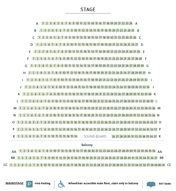 Huron Country Playhouse Seating Chart